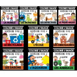 Colorie l'image GROWING BUNDLE avec Seesaw