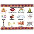 LES PRINCESSES / Mots-étiquettes (24 affiches)