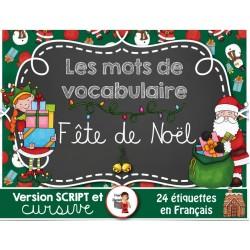 Mots de vocabulaire/Fête de Noël