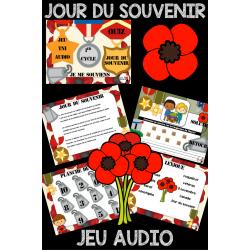 Jour du souvenir Canada /Jeu AUDIO TNI