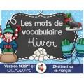 Mots de vocabulaire/HIVER
