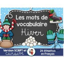 L'HIVER / Mots-étiquettes (24 affiches)