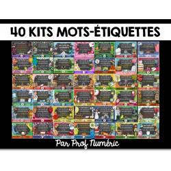 53 Kits de mots-étiquettes et +++