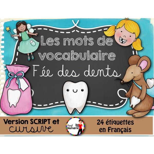 LA FÉE DES DENTS/ Mots-étiquettes (24 affiches)