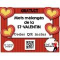 Saint-Valentin/Mots mélangés/Codes QR