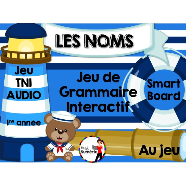 TNI - Jeu de grammaire/LES NOMS