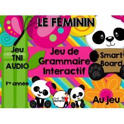 TNI - Jeu de grammaire/LE FÉMININ