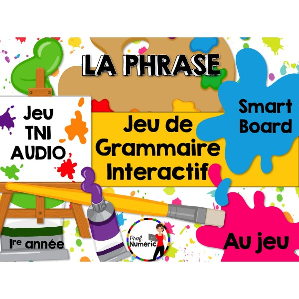 TNI - Jeu de grammaire/LA PHRASE