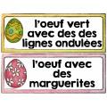 PÂQUES OEUFS COLORÉS/ 12 Mots-étiquettes (GRATUIT)