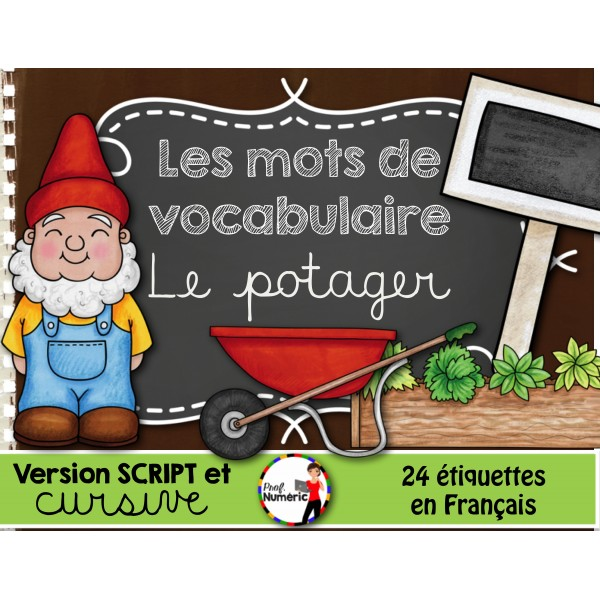 LE POTAGER/ Mots-étiquettes (24 affiches)