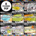 8 Cahiers interactifs Mathématiques et LIVRETS