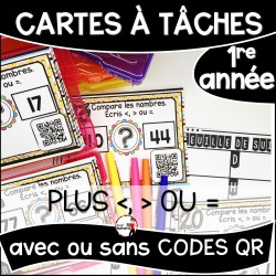 Cartes à Tâches 1re CODES QR/Plus <>=