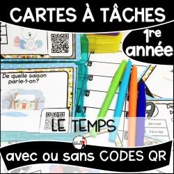 Cartes à Tâches 1re CODES QR/Le Temps