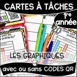 Cartes à Tâches 1re CODES QR/Les Graphiques