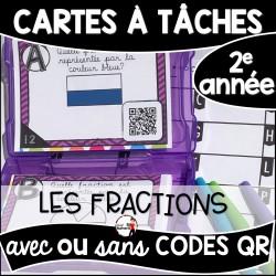 Cartes à Tâches CODES QR (Fractions)