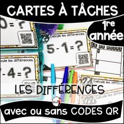 Cartes à Tâches 1re CODES QR/Les Différences