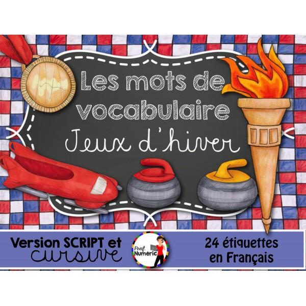 JEUX OLYMPIQUES/ Mots-étiquettes (24 affiches)