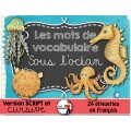 SOUS L'OCÉAN/Mots-étiquettes (24 affiches)