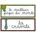 Fête des pères - Mots-étiquettes (GRATUIT)