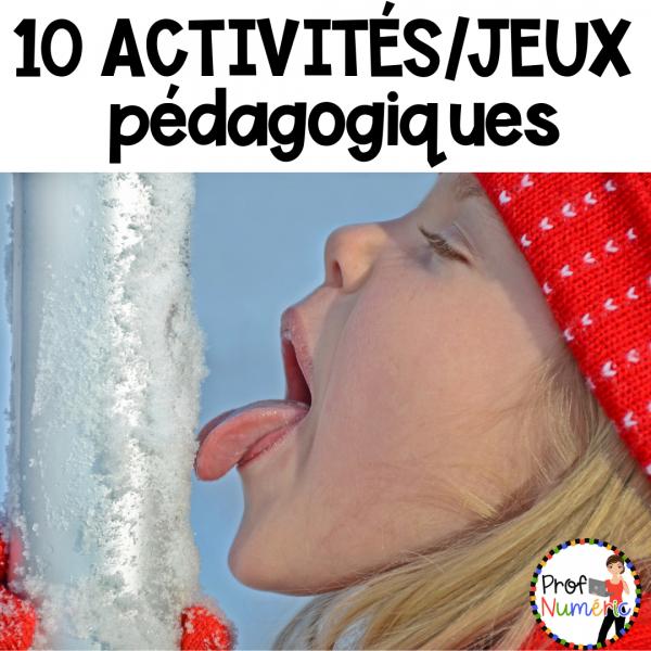 10 Jeux/Activités/Ateliers thème HIVER