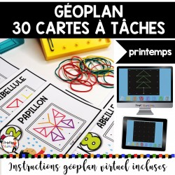 GÉOPLAN 30 Cartes à Tâches imp./virtuel PRINTEMPS