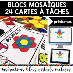 BLOCS MOSAÏQUES/24 Cartes à Tâches - PRINTEMPS