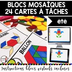 BLOCS MOSAÏQUES/24 Cartes à Tâches - ÉTÉ
