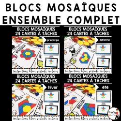 BLOCS MOSAÏQUES/ENSEMBLE COMPLET/Cartes à Tâches