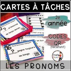 Cartes à Tâches CODES QR (pronoms) 2e année