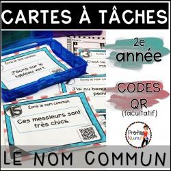Cartes à Tâches CODES QR (noms communs) 2e année