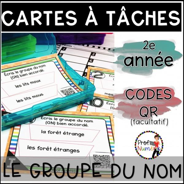 Cartes à Tâches CODES QR (Groupe du nom) 2e année
