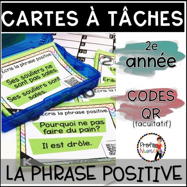 Cartes à Tâches CODES QR (Phrase +) 2e année