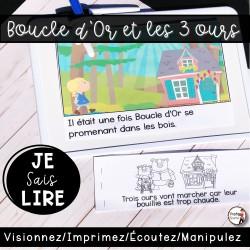 Livret de lecture AUDIO - Boucle d'Or +  3 ours