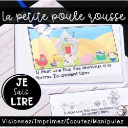 Livret de lecture AUDIO - Petite Poule Rousse