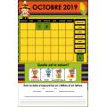 TNI -  Calendrier interactif d'octobre