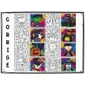 Colorie par code MODIFIABLE/8 dessins HALLOWEEN