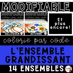 Colorie par code MODIFIABLE/ ENSEMBLE GRANDISSANT
