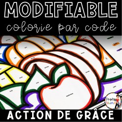 Colorie le code MODIFIABLE/8 dessins NOVEMBRE
