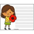 Jour du Souvenir - Cahier d'écriture - GRATUIT