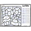 Colorie le code MODIFIABLE/8 dessins LES 100 JOURS