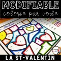 Colorie le code MODIFIABLE/8 dessins ST-VALENTIN