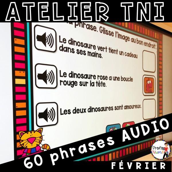 Atelier TNI - 60 Phrases AUDIO - FÉVRIER