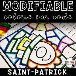 Colorie le code MODIFIABLE/8 dessins ST-PATRICK