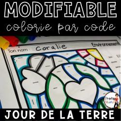 Colorie le code MODIFIABLE/ JOUR DE LA TERRE