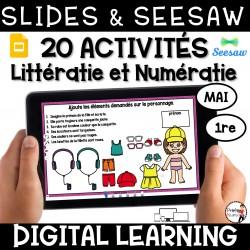 Activités Seesaw + Google Slides MAI - 1re année