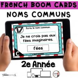 BOOM CARDS - GRAMMAIRE 2e année -NOMS COMMUNS
