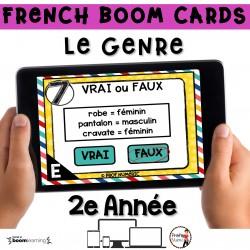 BOOM CARDS - GRAMMAIRE 2e année - LE GENRE