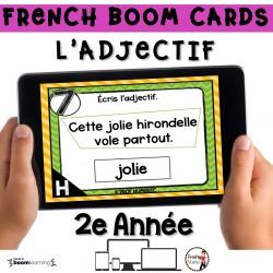 BOOM CARDS - GRAMMAIRE 2e année - L'ADJECTIF