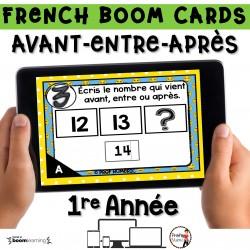 BOOM CARDS - MATHS - AVANT-ENTRE-APRÈS - 1re