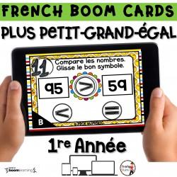 BOOM CARDS - MATHS - Plus Petit, plus grand - 1re